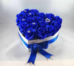 FLOWER BOX Srdce modré