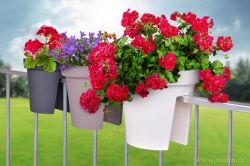 Dedra Velký květináč na zábradlí, antracitový, 28 cm