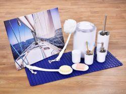 DEDRA Protiskluzová podložka do vany a sprchy, marine, s přísavkami