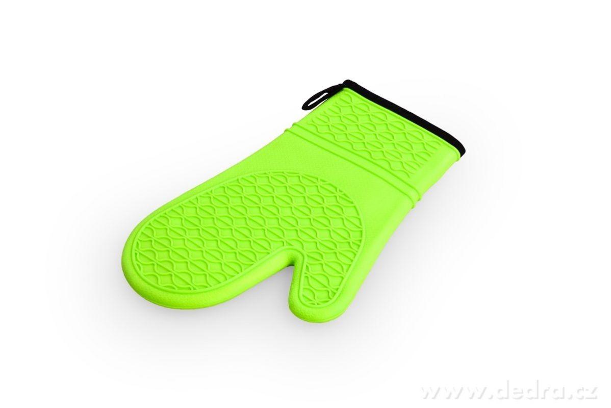 DEDRA SILICHŇAPKA, silikonová chňapka jasně zelená
