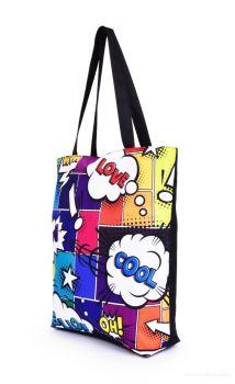 DEDRA Textilní kabelka/taška FC ELEGANT COMICS, s uzavíráním na zip