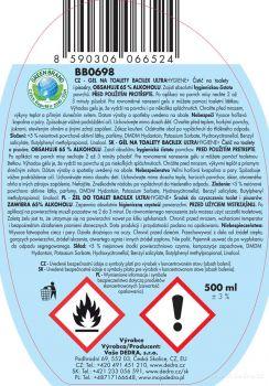 BACILEX® ultraHYGIENE+ 500ml gel na toalety s 65% alkoholu Vaše Dedra