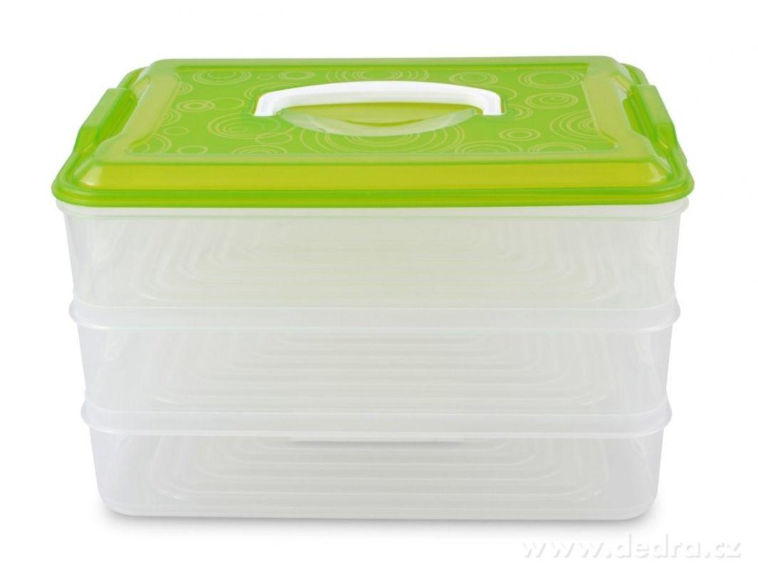 BUCHTONOŠ 3 PATROVÝ XXL, box na potraviny 3x3500ml