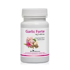 Garlic Forte tobolky 30 x 890 mg Blue Nature - kombinuje tři aktivní složky přírodního původu: Česnek, Cist krétský, Harpagofyt ležatý
