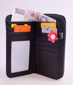 Peněženka KIKISTAR® z ekokůže, black