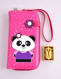 Peněženka KIKISTAR® z ekokůže, pink