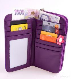 Peněženka KIKISTAR® z ekokůže, violet