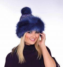 POLARIS ručně pletená čepice s teplou podšívkou, půlnoční modrá