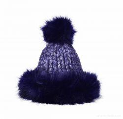 POLARIS ručně pletená čepice, půlnoční modrá
