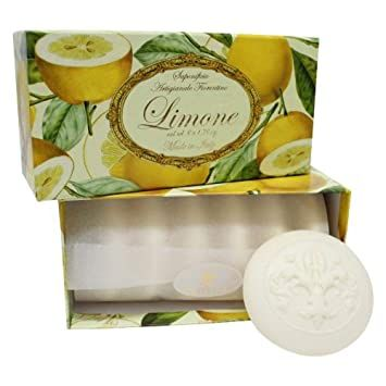 Ručně balená mýdla Parfumi del Sole Limone 6x50gr Saponificio Artigianale Fiorentino