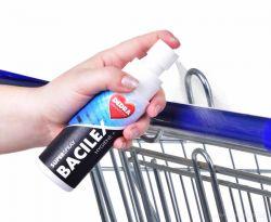 SUPERSPRAY BACILEX HYGIENE+ 100ml 70% alkoholový superčistič hladkých ploch pro hygienicky čisté hladké povrchy, respirační roušky a respirátory!