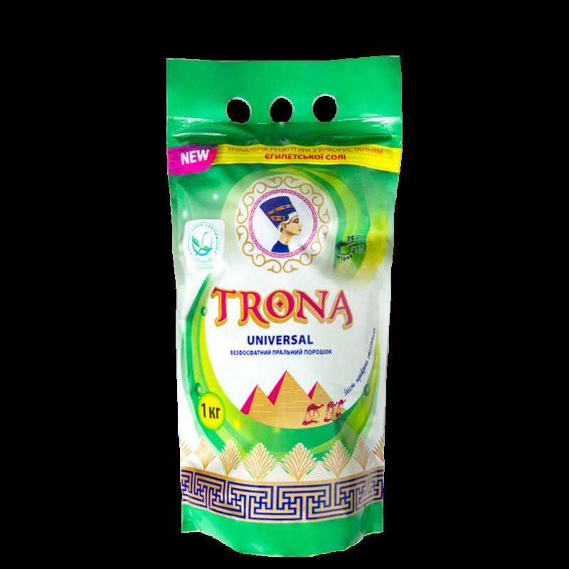 Trona prací prášek Universal 1kg - bezfosfátový prací prášek na bílé i barevné prádlo Polymer Ukrajina