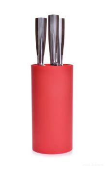 CARBONIT tyčinkový stojan na nože červený výška 22 cm