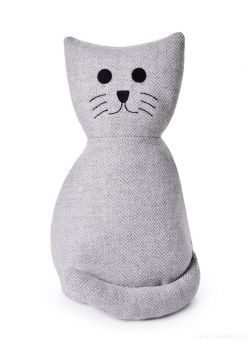 Dveřní textilní zarážka ve tvaru sedící kočky