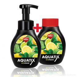ECO pěna AQUATIX 300ml bergamot&lemon 300+300ml