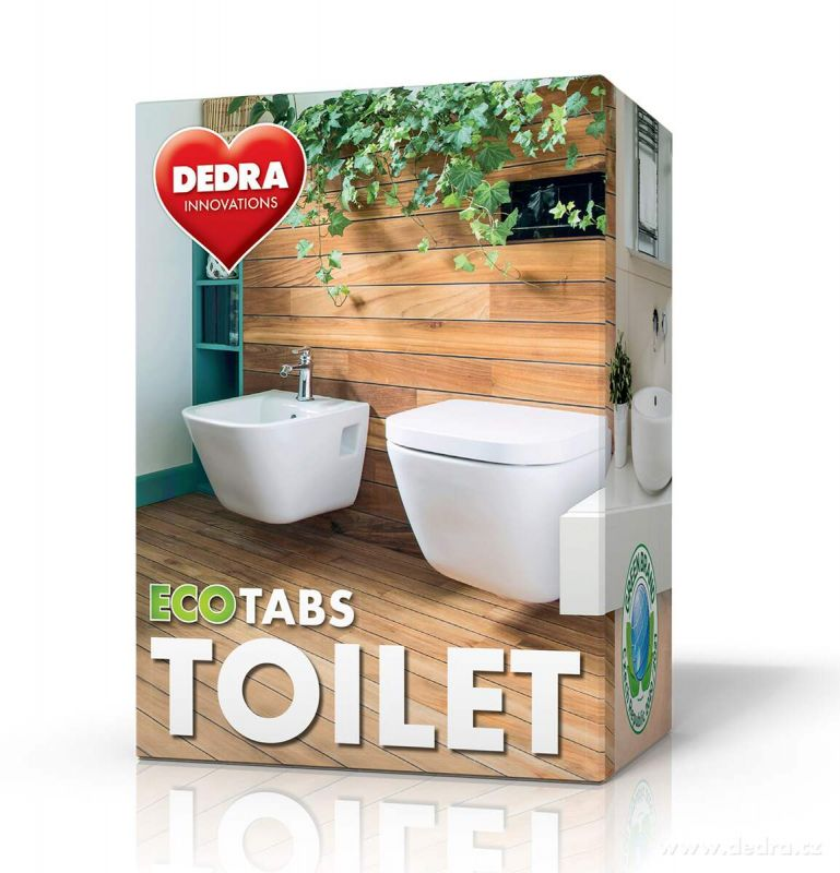EKO samočisticí tablety do WC odpadu ECOTABS TOILET Vaše Dedra