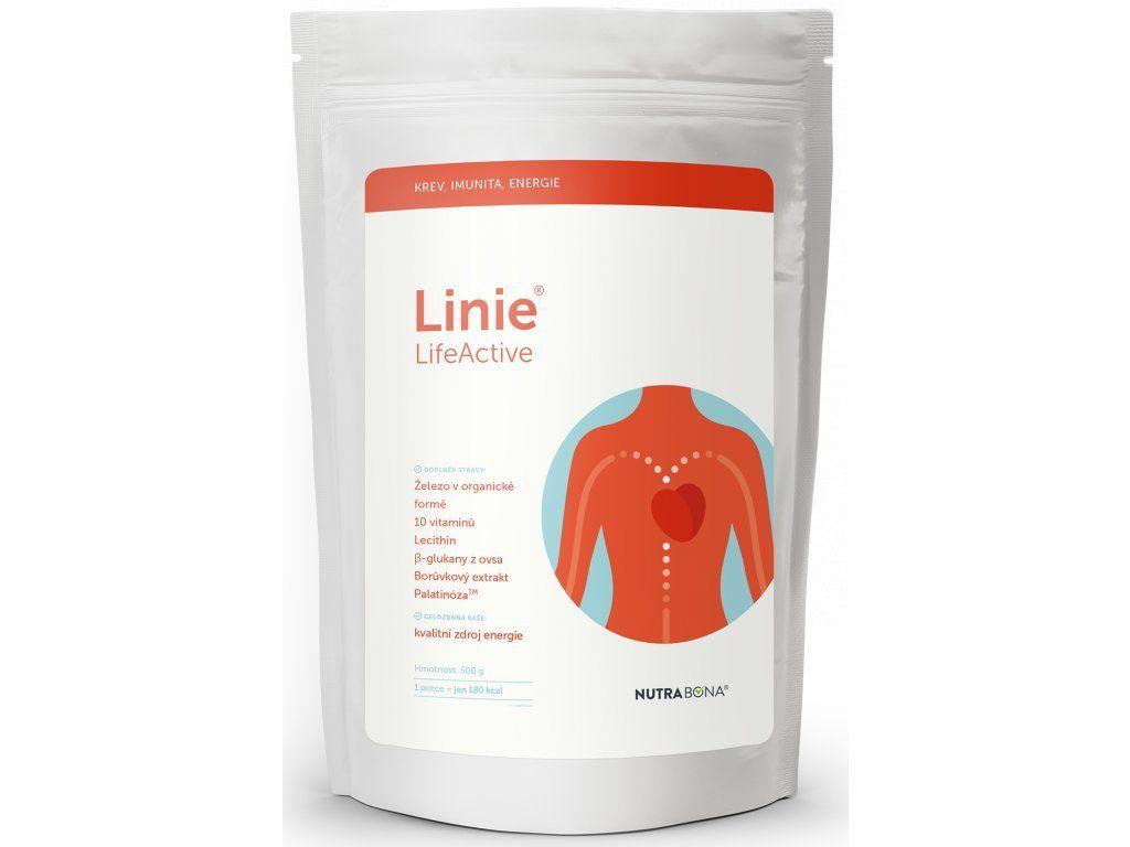 LINIE LifeActive - kaše s 13 biologicky aktivními látkam 500gr NUTRA-BONA