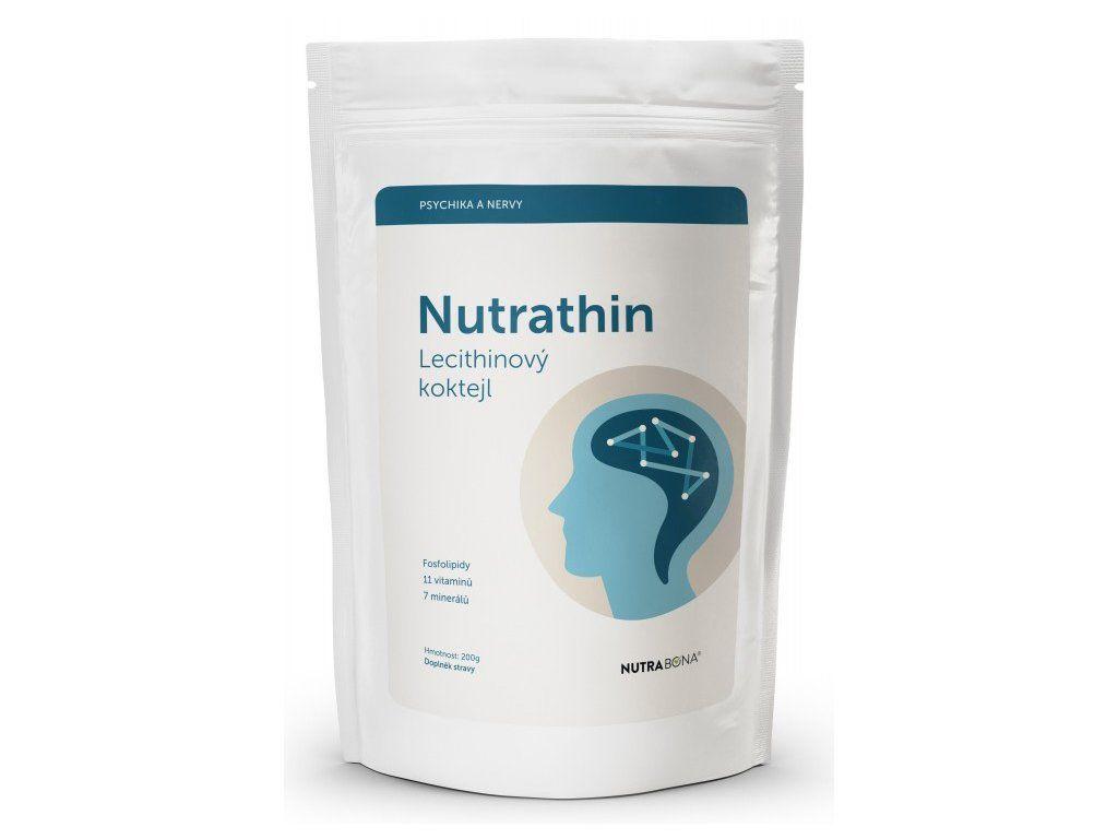 Nutra Thin - Lecithinový koktejl čokoláda 200 g doplněk stravy pro zlepšení duševní pohody NUTRA - BONA