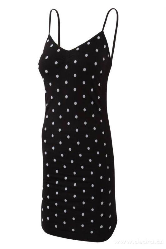SALEENA ramínkové mini šaty černé