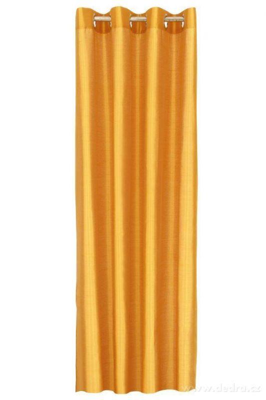 Závěs z pevné neprůhledné tkaniny, umělé hedvábí měděný