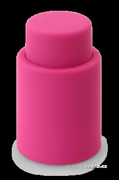 Flaškátor - vakuový uzávěr lahve fuchsiový