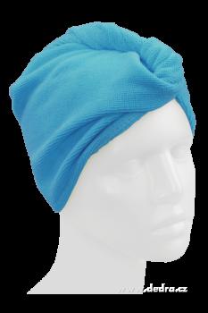Dedra - Ručník turban na mokré vlasy - tyrkysový