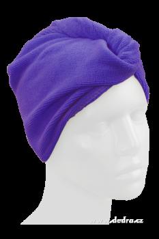 Dedra - Ručník turban na mokré vlasy - levandulový