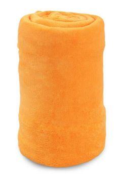 XXL LAGOON přehoz svítivě oranžový 200 x 230 cm