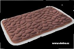 Koupelnová předložka ANATOMIX, čokoládová 60 x 80 cm