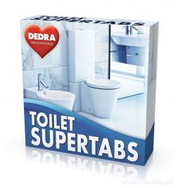 TOILET SUPERTABS tablety do WC 10ks