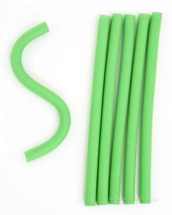 Ohebné natáčky na vlasy zelené 6 ks