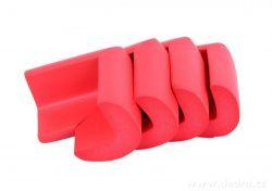 NÁRAZNÍK na rohy nábytku, cihlově červený